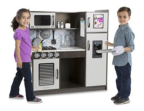 Awe Inspiring Melissa Doug Chefs Kitchen Pretend Play Set Charcoal Interior Design Ideas Oxytryabchikinfo