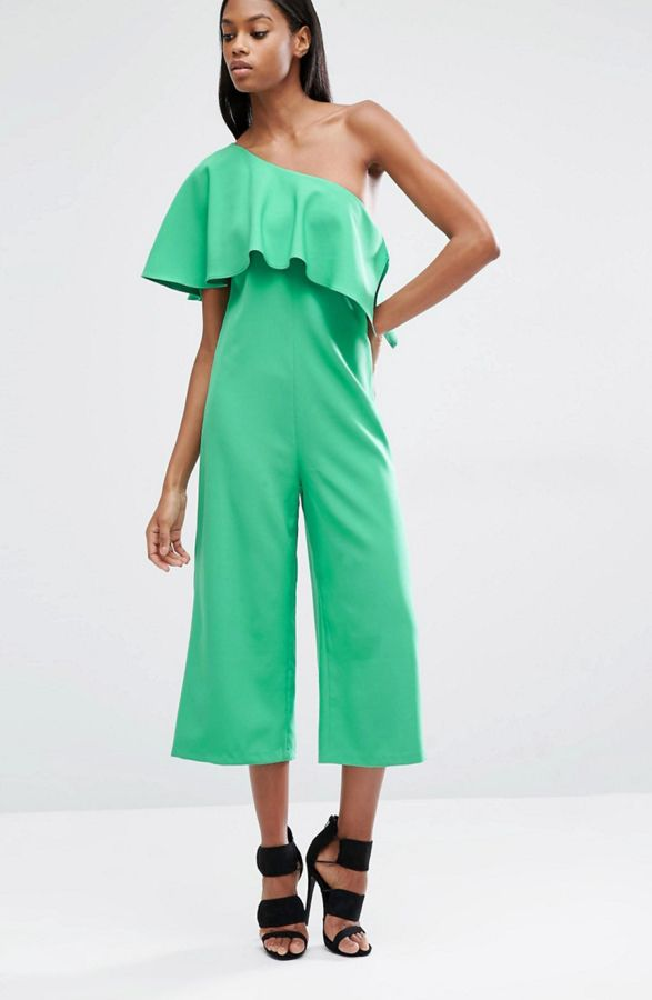 4da75c3be702 Jumpsuits You Could Totally Get Away With Wearing to A Wedding. Lavish  Alice Asymmetric Overlay Culotte Jumpsuit perfect for a cocktail party:  http://