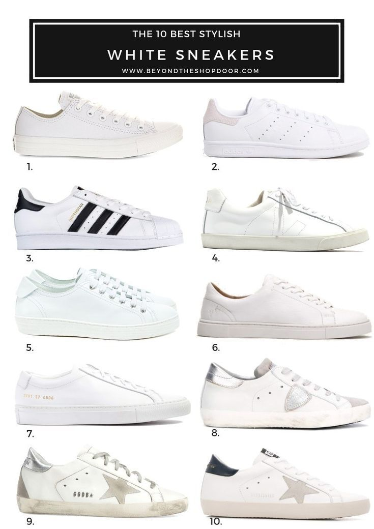The 10 Best Stylish White Sneakers for