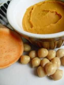 Sweet potato and chickpea puree baby food recipe (6 months+)