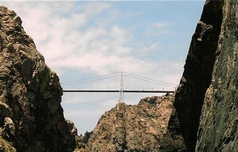 Royal Gorge Bridge, Colorado..yep amazing view...scary as hell...