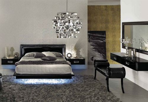 Floating Bed Frame With Lights Trendy Bedroom Sets  Wiibrowser Custom Trendy Bedroom Designs Review