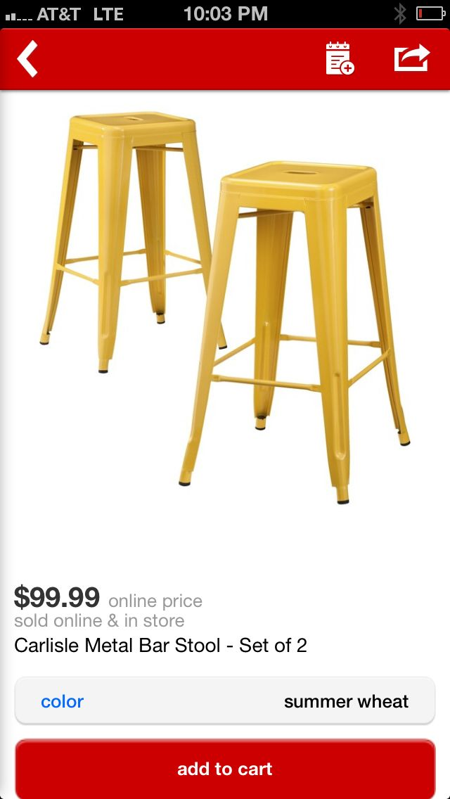Yellow Bar Stools For A Pop Of Color Outside Outdoor Target Bar Stools Metal Bar Stools Yellow Bar Stools