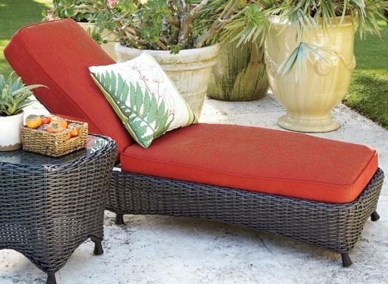 Martha Stewart Living™ Lake Adela Chaise Lounge - Chaise ... on Martha Stewart Living Chaise Lounge id=50952