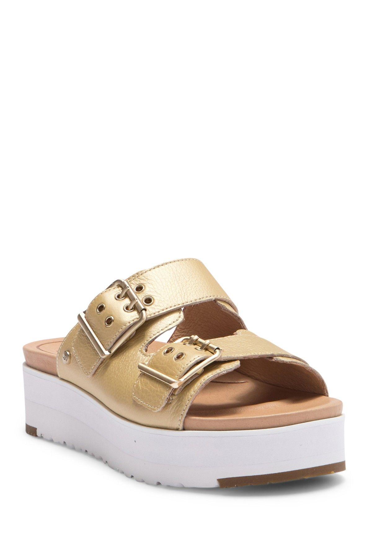 6f83fa18705 UGG | Cammie Metallic Leather Platform Sandal in 2019 | want ...