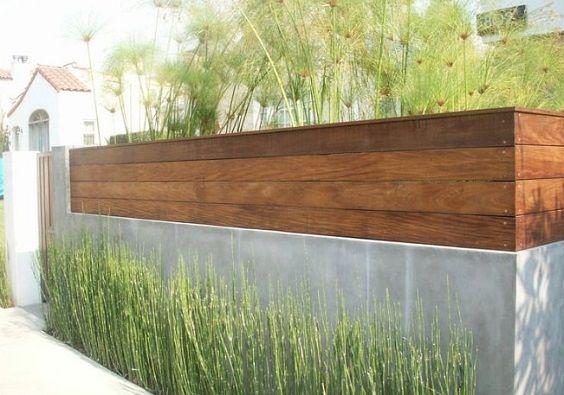 25+ beste konkrete Fechten Design-Ideen für Backyard Remodeling Plan - Wohn Design