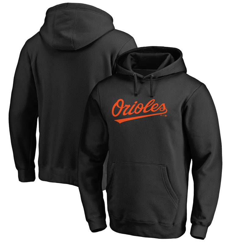 Baltimore Orioles Fanatics Branded Wordmark Big and Tall Pullover Hoodie -  Black 0c5256ba662