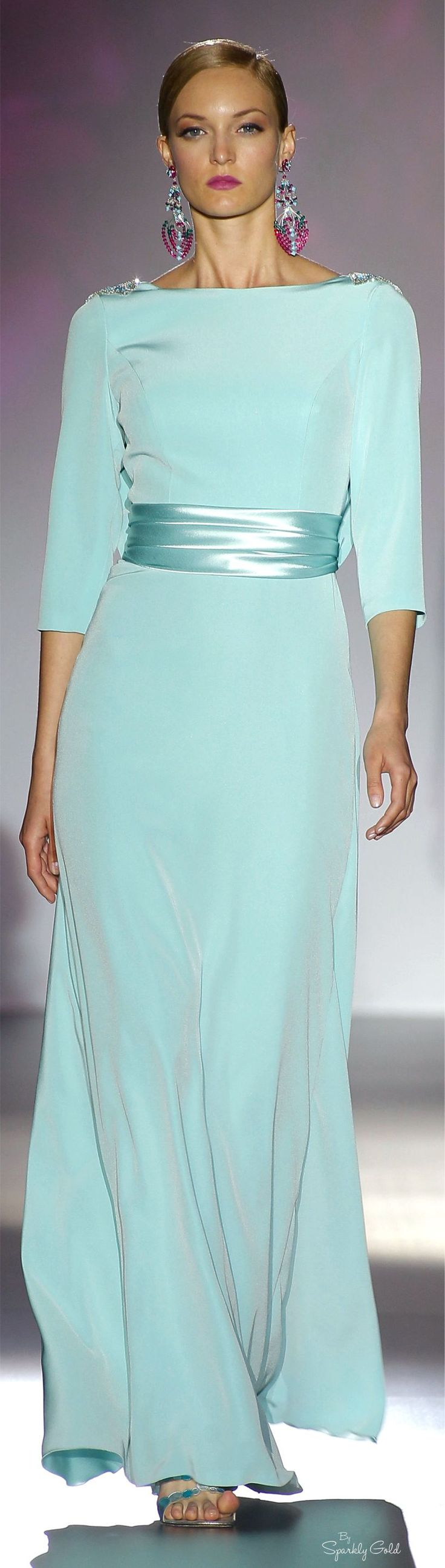 Pasarela turquoise gowns and tiffany blue