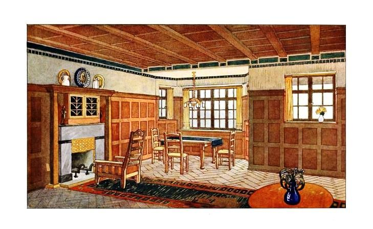 An english arts crafts living room 1912 craftsman - Arts and crafts home interior design ...