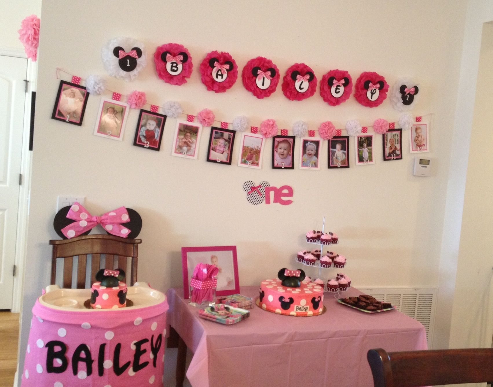 Minnie Mouse 1st Birthday Party Birthday Parties Pinterest