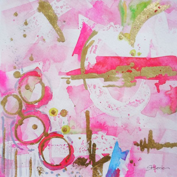 Pink Glam Stretched Canvas By Limezinnias Design Society6 Abstract Art Prints Abstract Pink Art Print