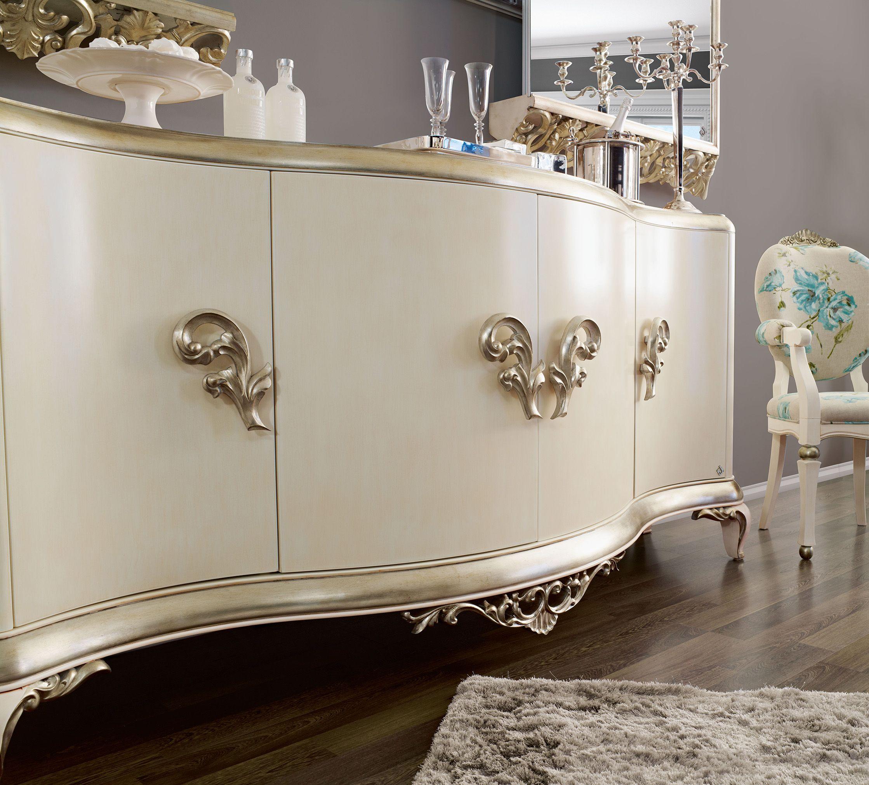 Capri White Sideboard Jetclass Real Furniture Luxury Furniture  # Muebles Jetclass