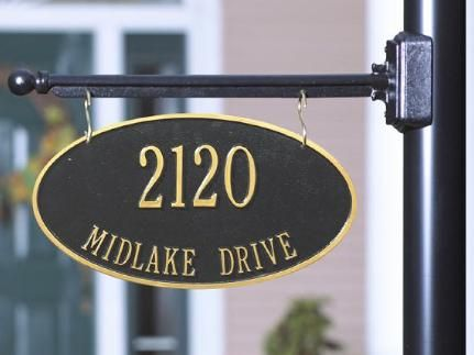 Two Sided Address Plaques Home Signs Hanging Signs Light Box Sign