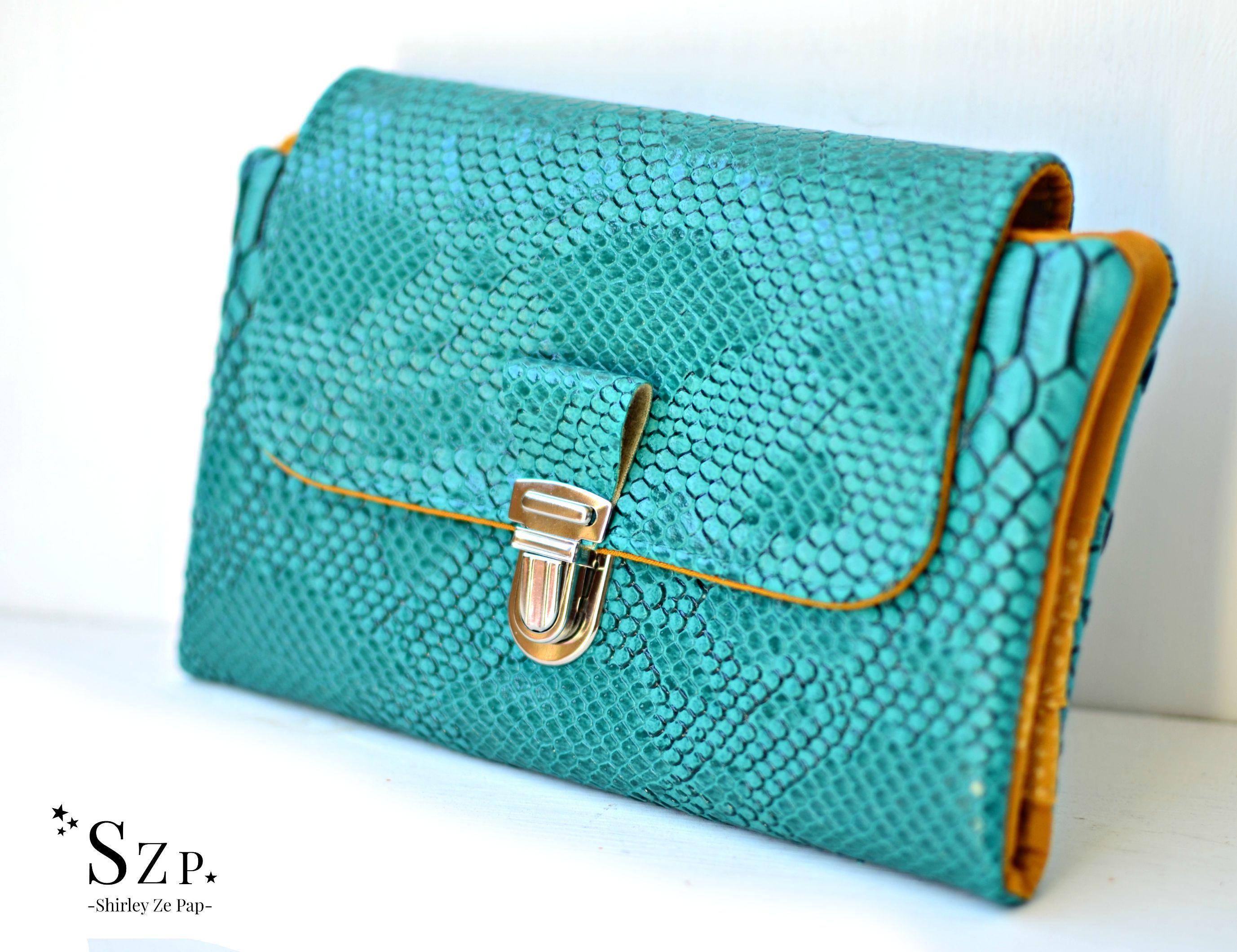 Wallet woman portefeuille femme simili cuir dragon emeraude et coton safran et dor porte - Portefeuille femme porte chequier ...