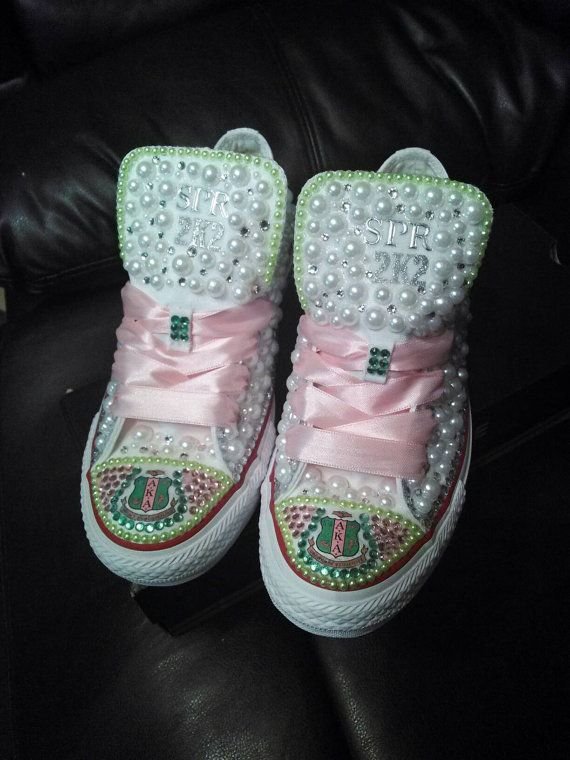 AKA Bling Pearl Converse or Vans by DRBlingNThings on Etsy  991c7f128