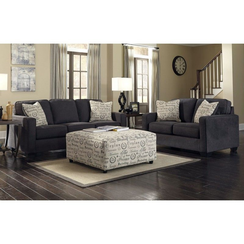 Admirable Alenya Charcoal Sofa Loveseat 2Pc Set For The Home Ncnpc Chair Design For Home Ncnpcorg