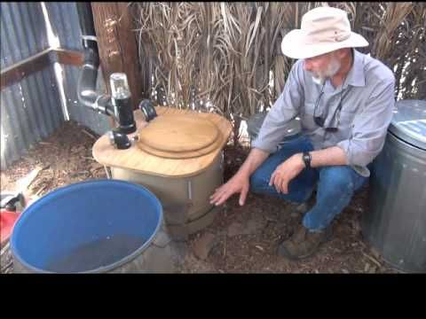 How to build a composting toilet barrel system watershed for Build a septic tank