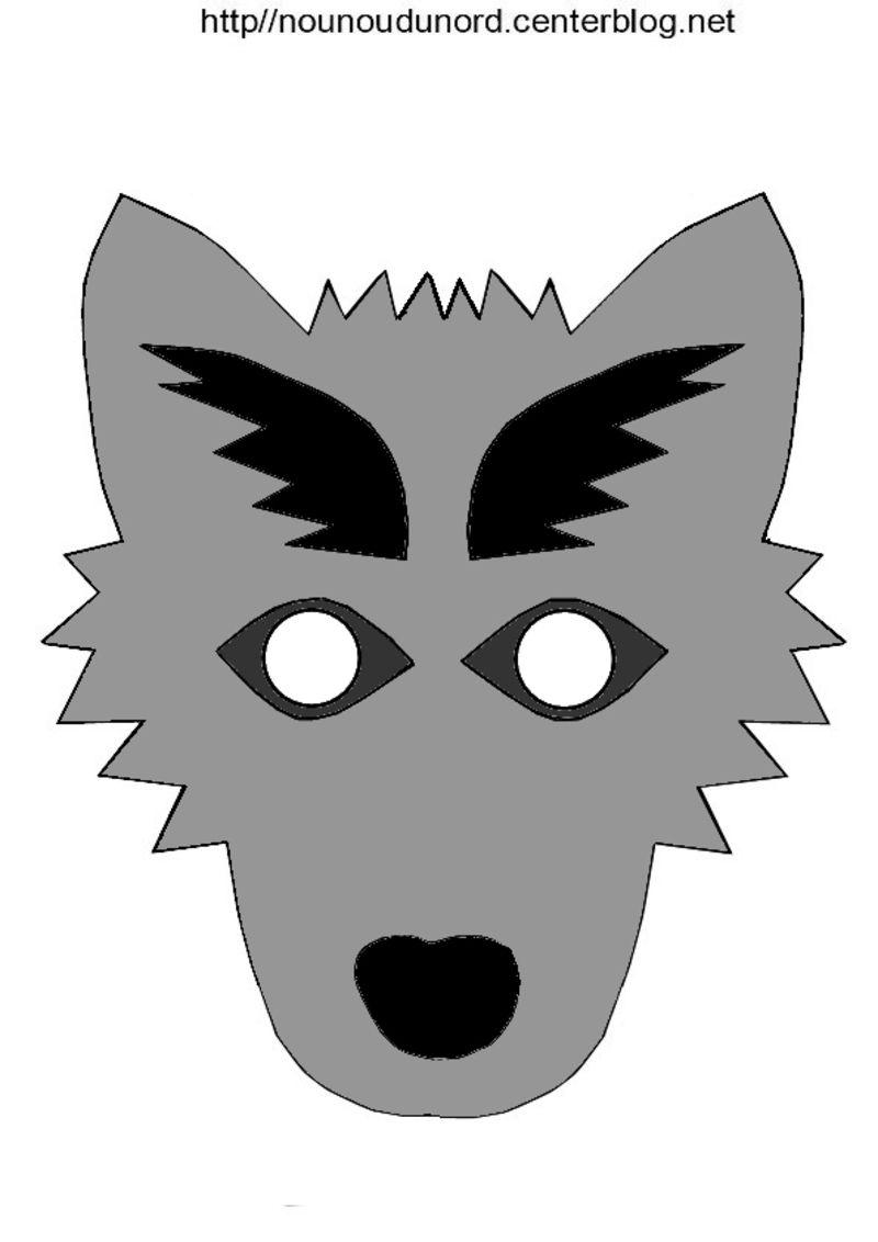 Masque loup masques et couronnes animal crafts mardi gras et preschool - Image de loup a imprimer ...