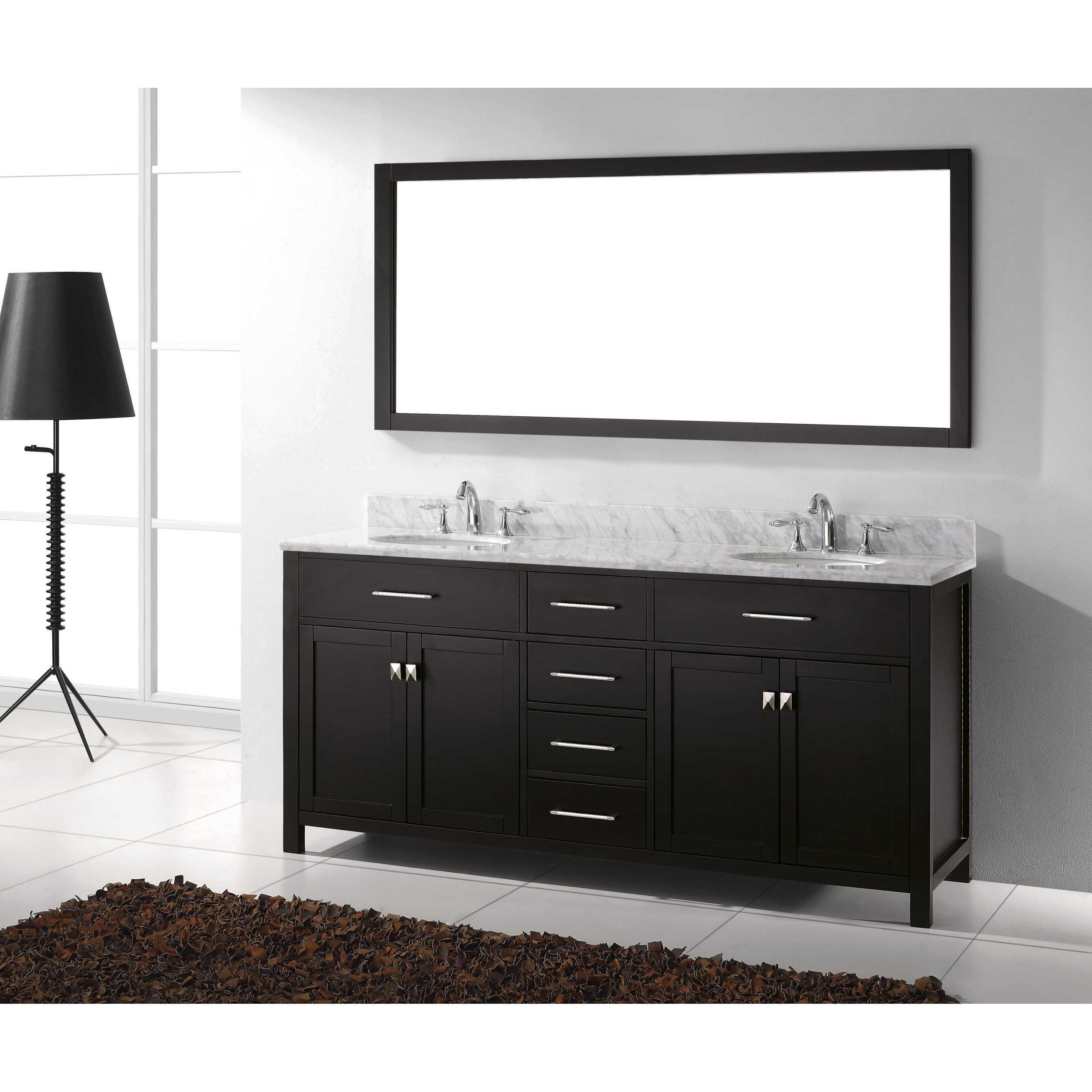 Double sink white bathroom vanities virtu usa caroline inch round double bathroom vanity set with