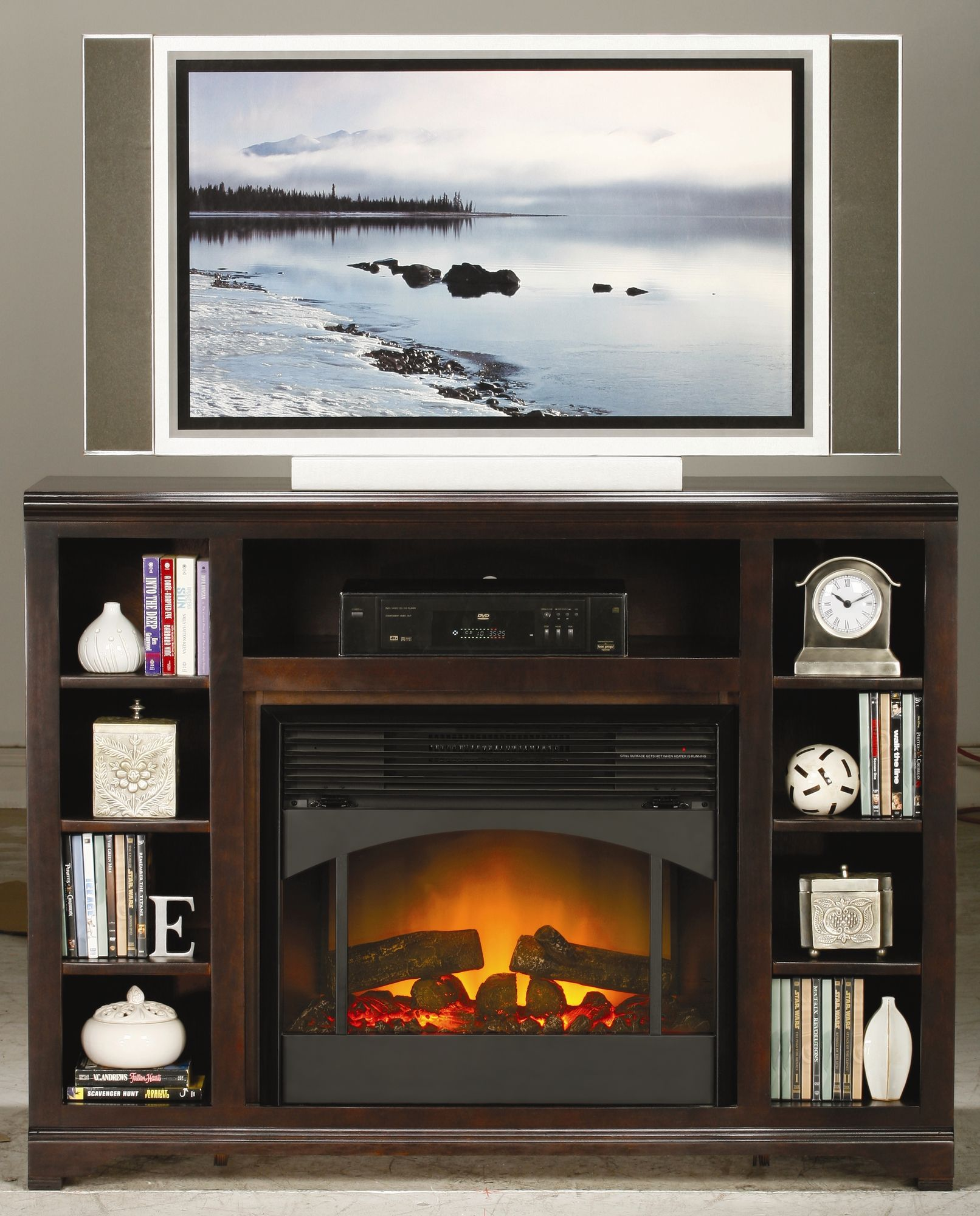 TV Stand with Electric Fireplace | Apartment Decorating | Pinterest ...