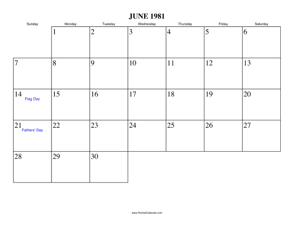 Calendar View June : Free printable calendar for june view online or