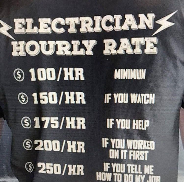Electrician Rate Words, Electrician, Words of wisdom