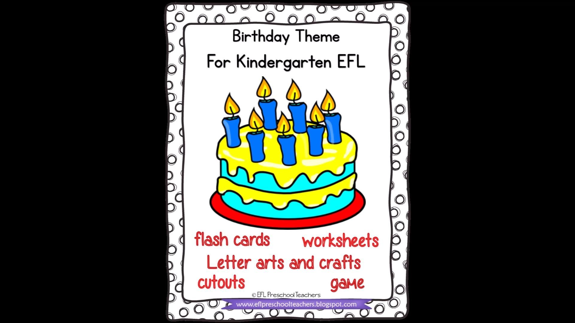 Happy Birthday For Ell Video Language Teaching Flashcards Esl Teachers [ 1080 x 1920 Pixel ]