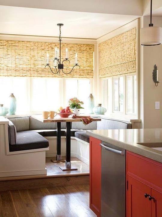 Schicke Sitzecke Küche für kleine Küche in Weiß | Sitzecke ...