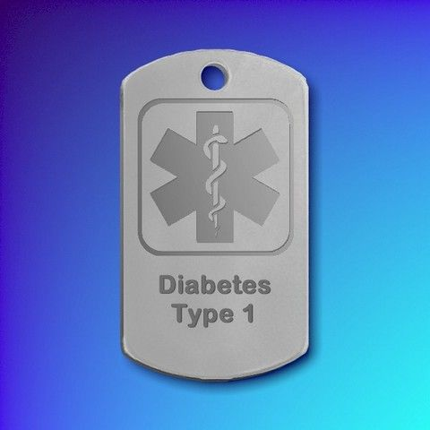 Chrome Plated Medic Alert or I.C.E tag Rectangular (Large)