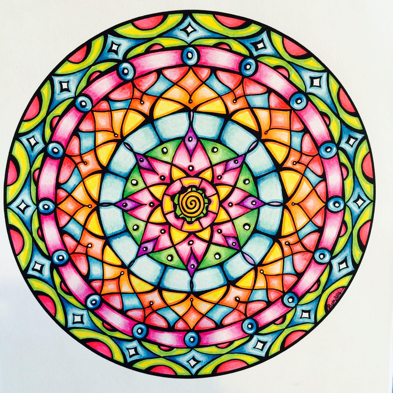 Design bysamdala from mandala mojo colouring by sam dreyer mandalas pinterest mandalas - Mandala facile ...