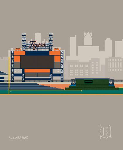 MLB Baseball Stadiums on Behance
