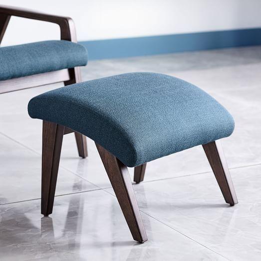 Sensational Contour Mid Century Leather Ottoman Shopping Mid Century Machost Co Dining Chair Design Ideas Machostcouk