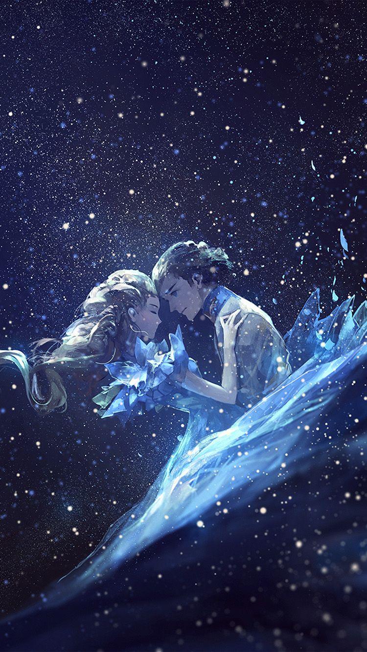 Anime Kiss Love Blue Girl Boy Illustration Art Wallpaper Hd Iphone Boy Illustration Anime Kiss Illustration Art
