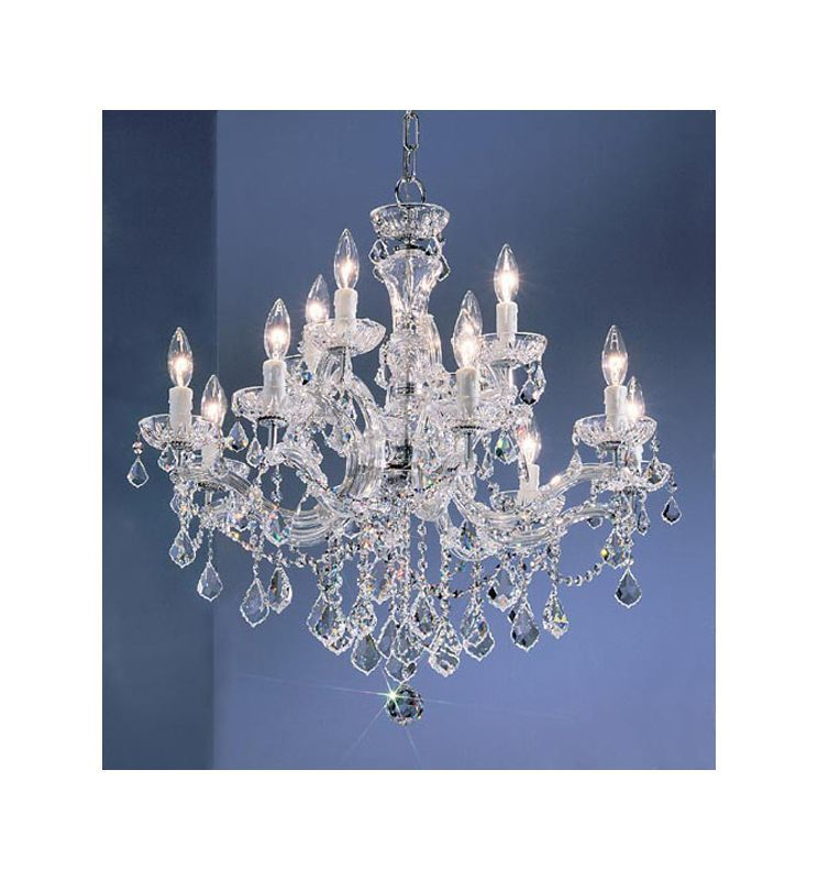Classic Lighting 8344 Ch In 2020 Candle Style Chandelier