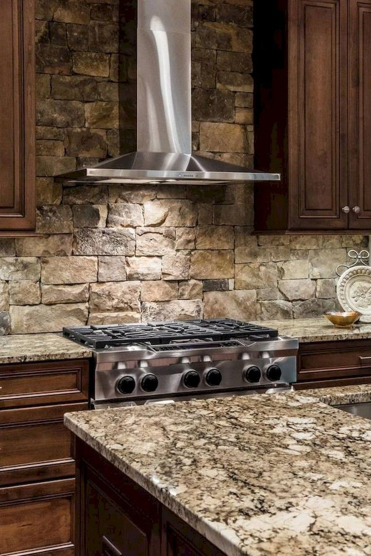14 Spectacular Stone And Rock Kitchen