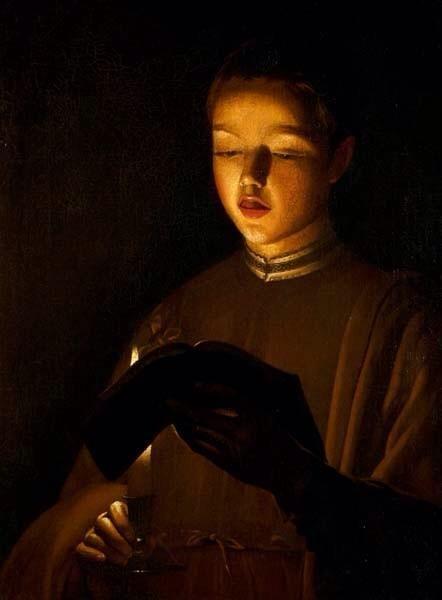 Georges De La Tour Le Jeune Chanteur 1640 50 New Walk Museum And Art Gallery Leicester La Tour Art Chiaroscuro