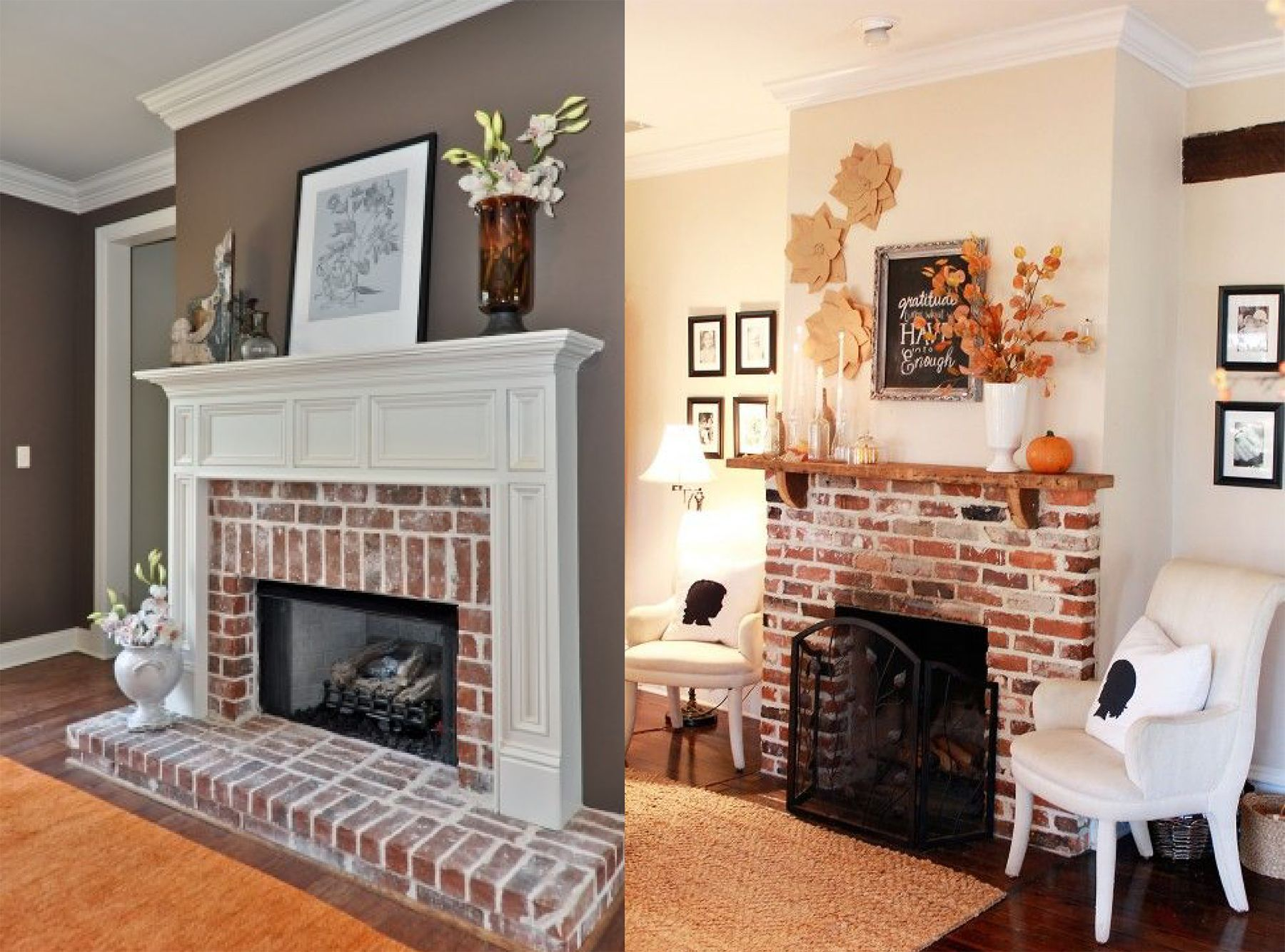exposed brick fireplace almond home pinterest exposed brick