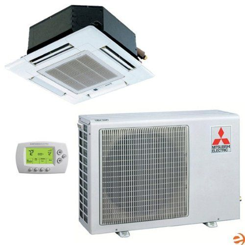 Mitsubishi Mr Slim Slzka15na Suzka15na 208 230v 1 Ph 14 5 Seer 15 000 Btu R410a Ceiling Recessed Ductless Mini Split Heat Pump System