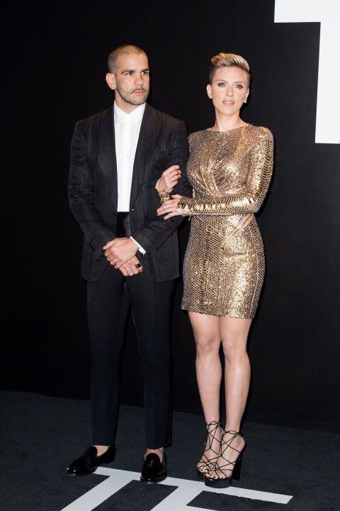 Romain Dauriac and Scarlett Johansson in Tom Ford