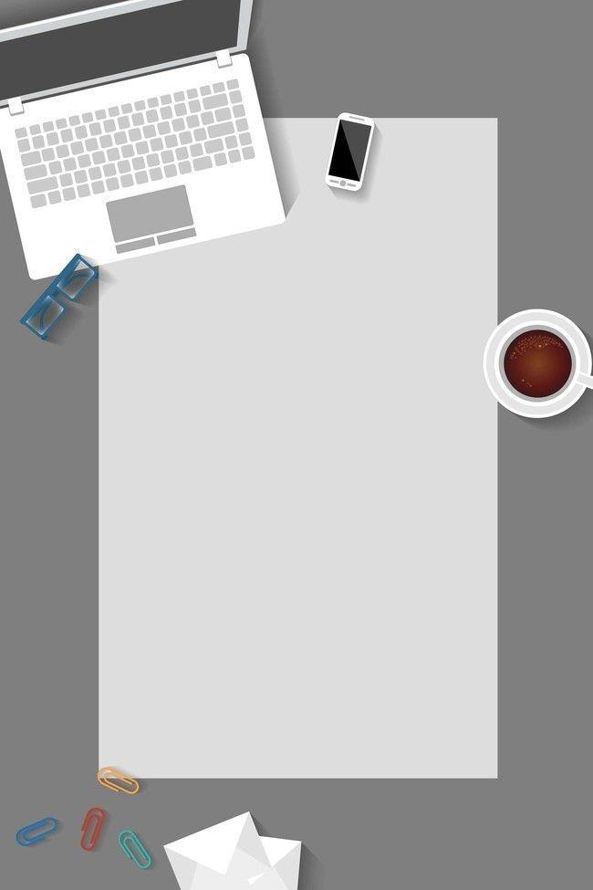 Blank Empty Paper Notebook Background Flat Technology Business Office Equipment P Powerpoint Background Design Background Design Poster Background Design