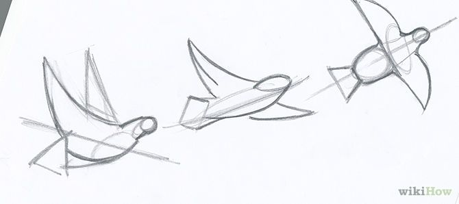How to Draw Flying Birds 5 Steps  wikiHow  Ink  Pinterest  Artsy