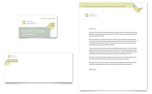 Health Insurance   Sample Letterhead Template  Company Letterhead Samples