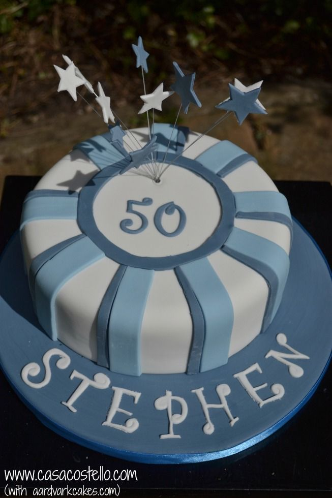 Mens Blue 50th Birthday Cake BakeoftheWeek Birthday cakes