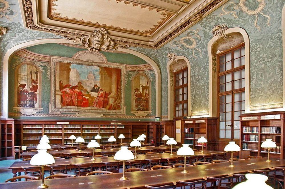 file la sorbonne hall ceiling. La Sorbonne Library, Paris, France. File Hall Ceiling B