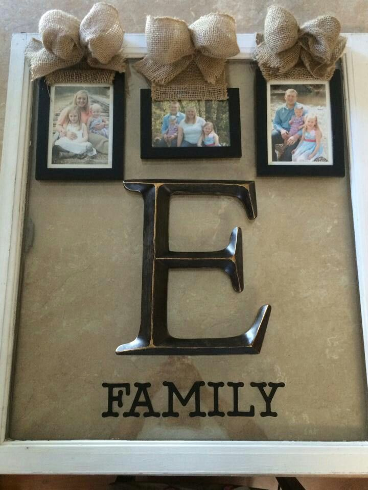 Customized picture frame out of old window | home | Pinterest ...