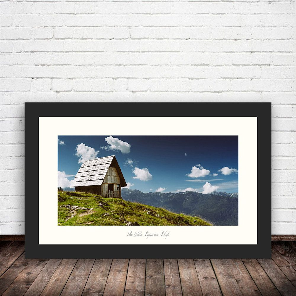 New To Thelittlesquares On Etsy Welcome Rest Planina Zajamniki Slovenia Panoramic Landscape Photo Print Framed Pan Landscape Photos Photo Printing Landscape