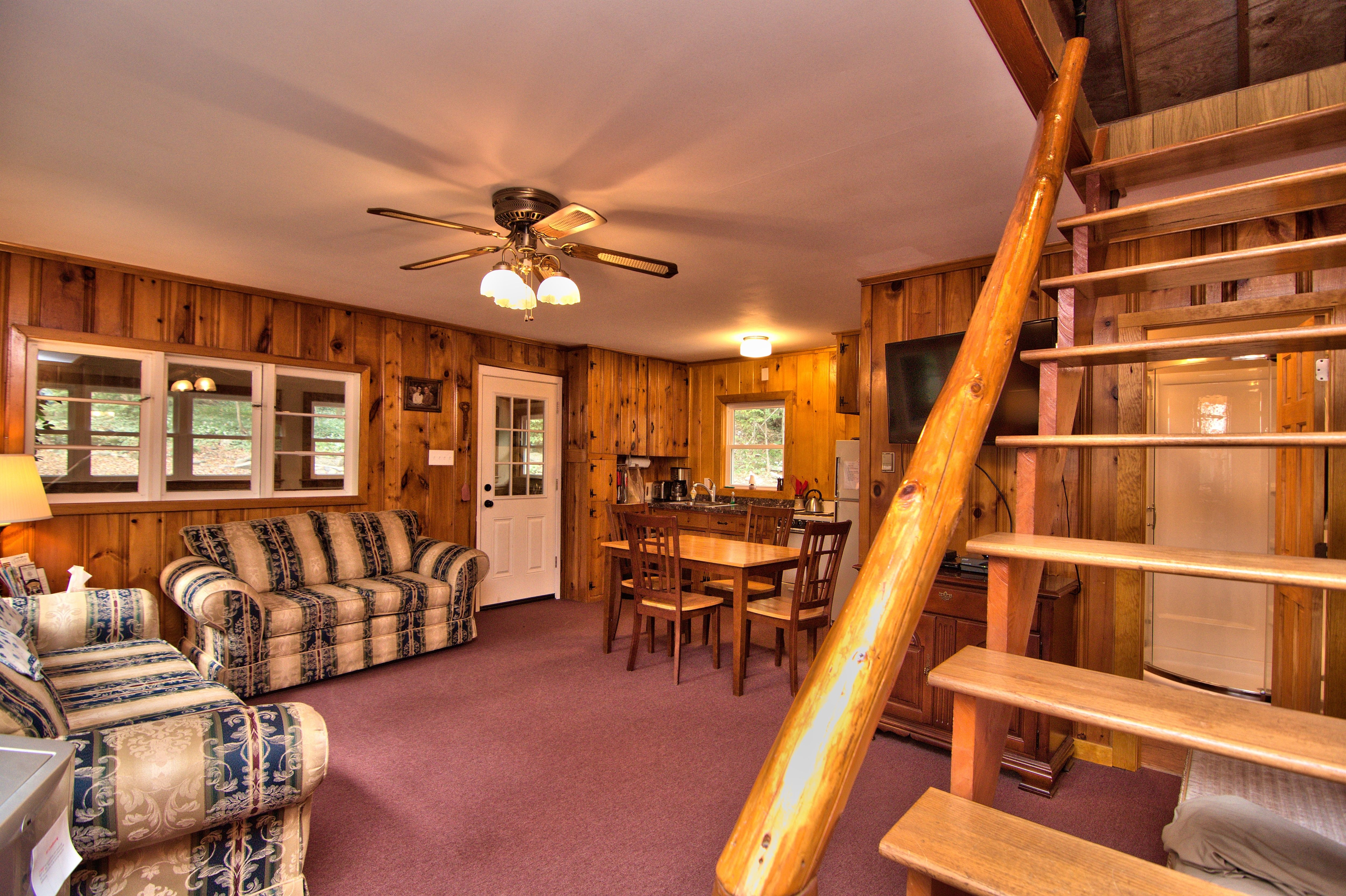 Enjoy family time in the living room area at this home for
