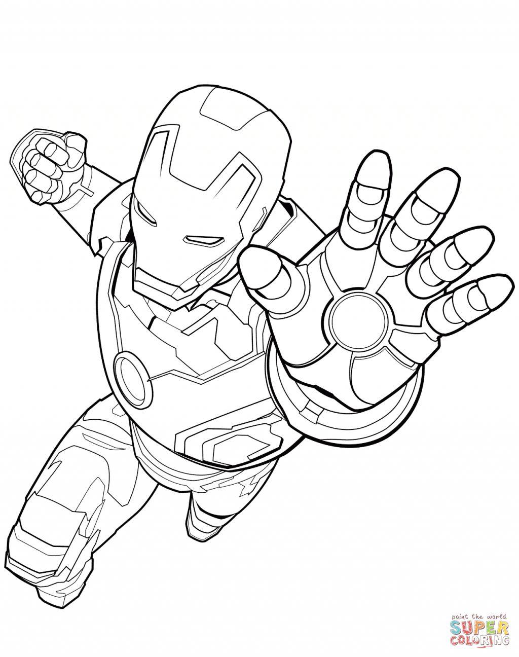 27+ Brilliant Picture of Superhero Coloring Page