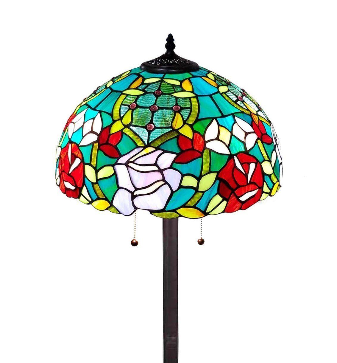 Amora Lighting Am084fl16 Tiffany Style Roses Floor Lamp 61 In Amazon Com Rose Floor Lamp Glass Floor Lamp Floor Lamp