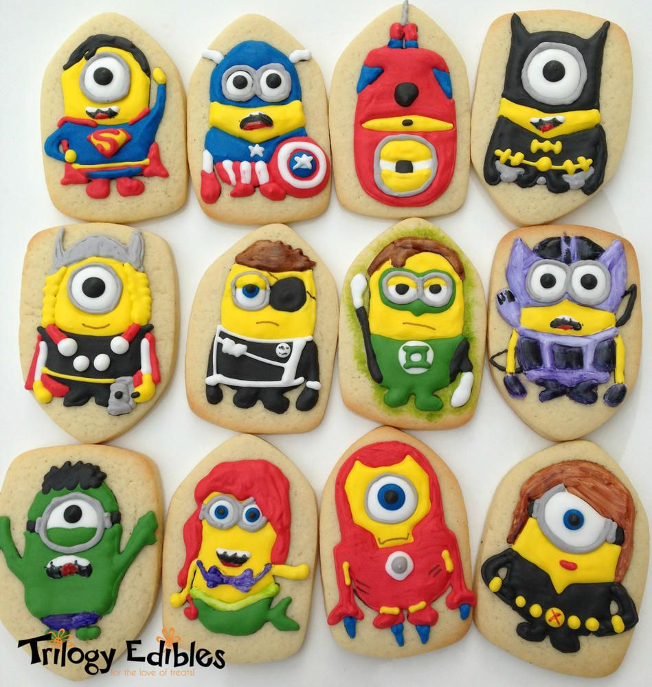 Avengers Minions Cookie Connection COMESTIBLES Pinterest